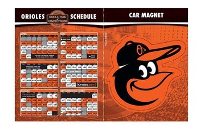 Baltimore Orioles Schedule and Logo Magnets
