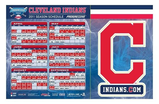Cleveland Indians Schedule and Logo Magnets