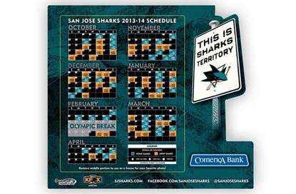 San Jose Sharks Photo Frame Magnets
