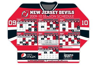 Devils Hockey Schedule Magnet