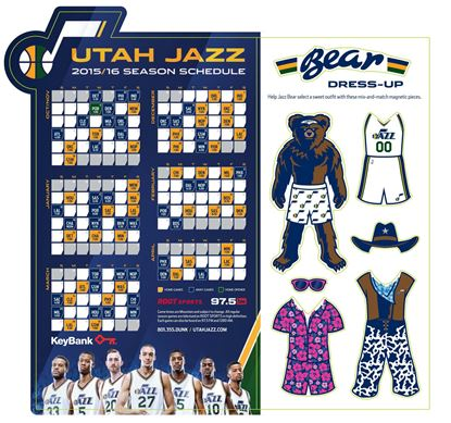 Utah Jazz Punch-Out Magnet
